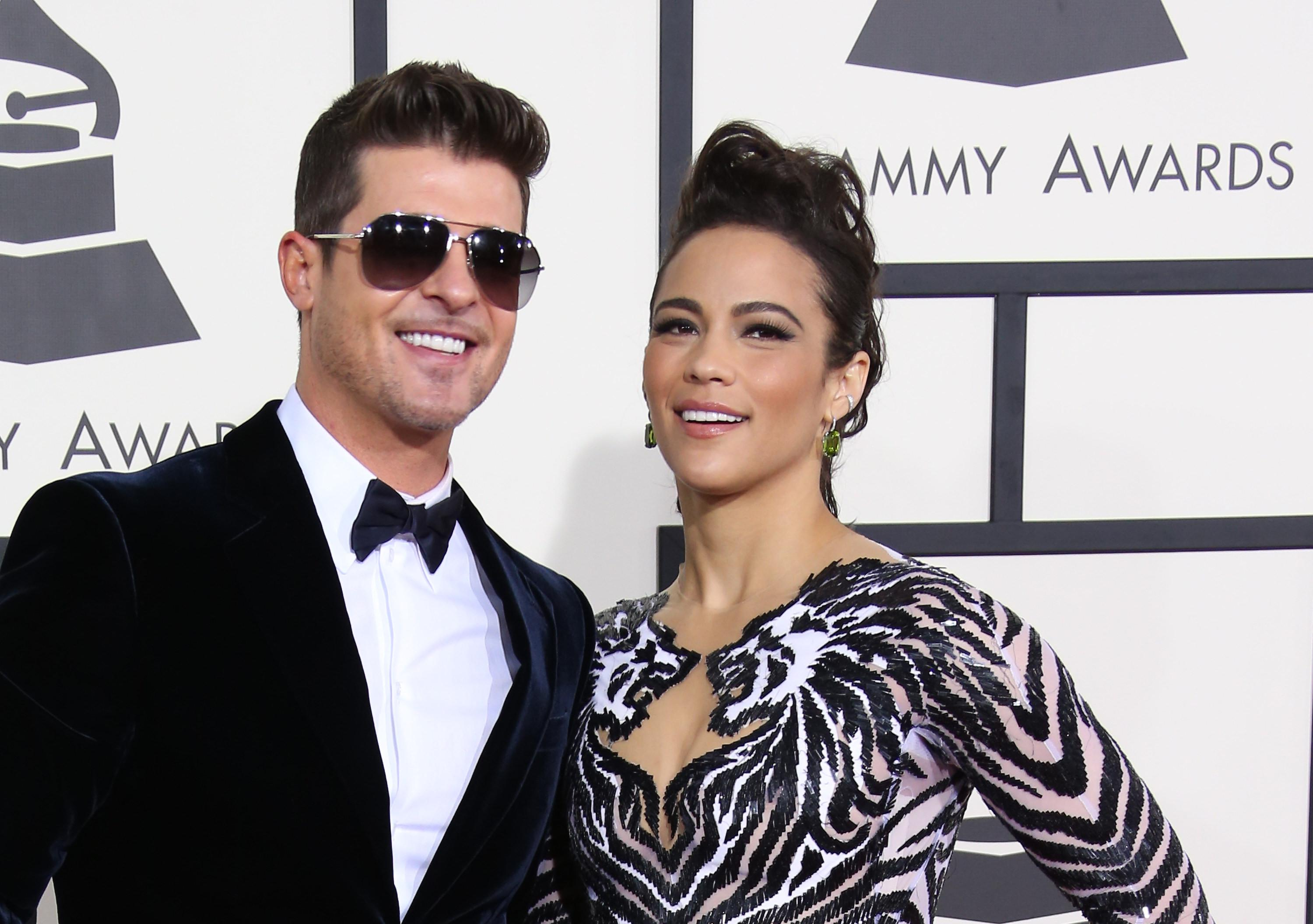 Robin Thicke Paula Patton Attending Family Therapy Majic 1021