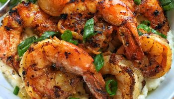 Grilled Jerk Shrimp & Grits