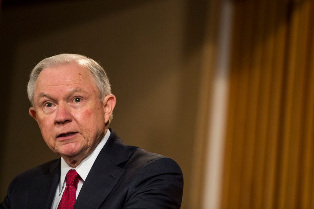 Jeff Sessions Addresses African American History Month Observation At Justice