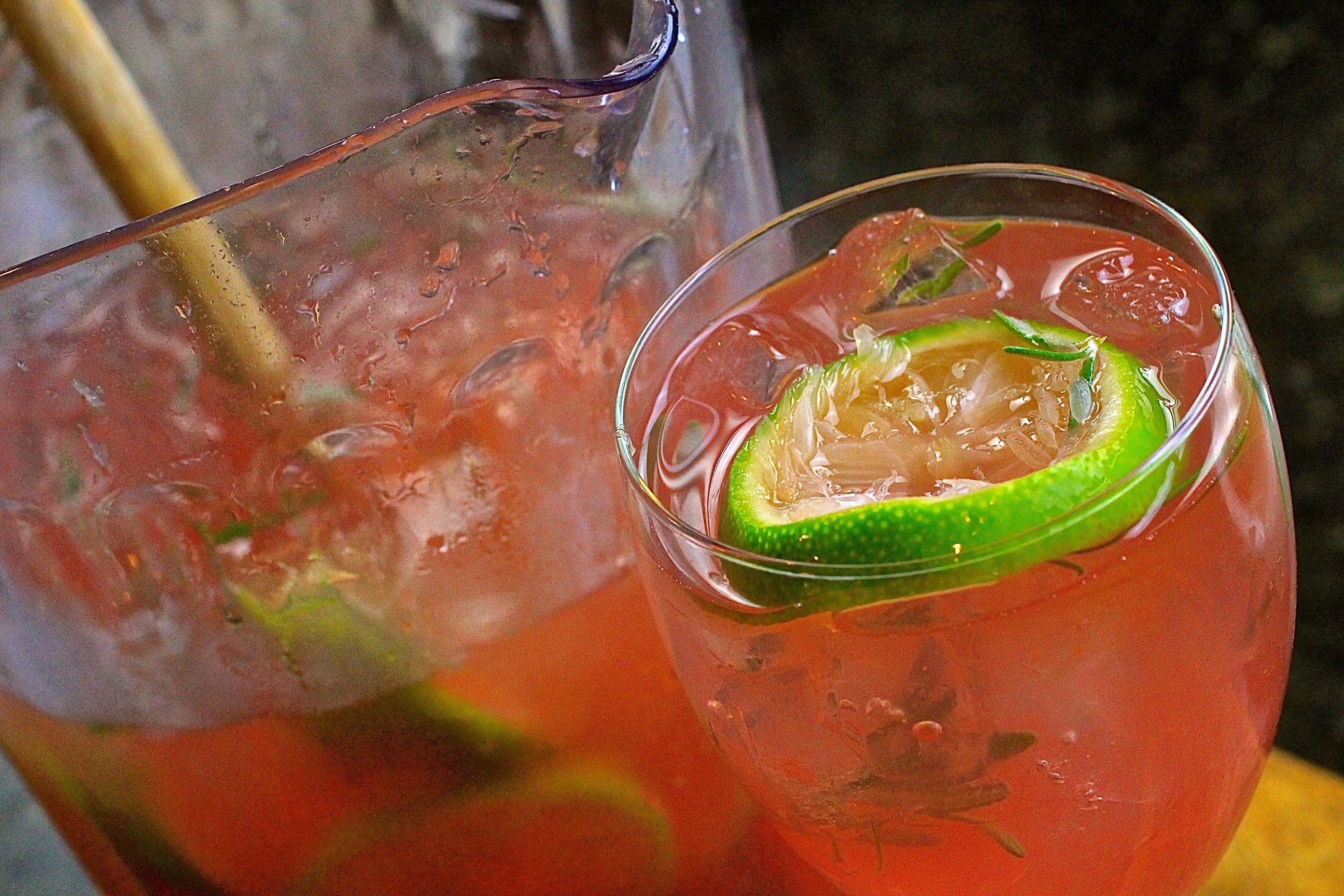 Sparkling Rosemary Moscato Lemonade