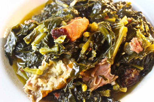 Braised Collard Greens with Smoked Turkey