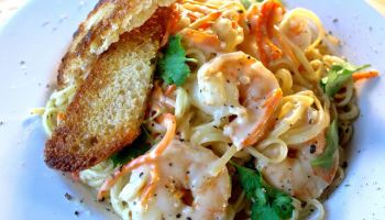 Whiskey Lime Shrimp & Fettuccini