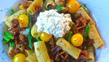 Summer Pasta with Bacon