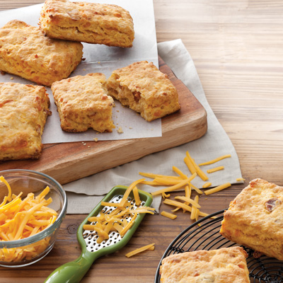 Sweet Potato Bacon Biscuits