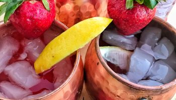 Frozen Strawberry Lemonade Moscow Mules