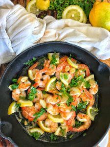Cast Iron Lemon Butter Shrimp