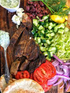 Herb Steak Pitas with Tzatziki