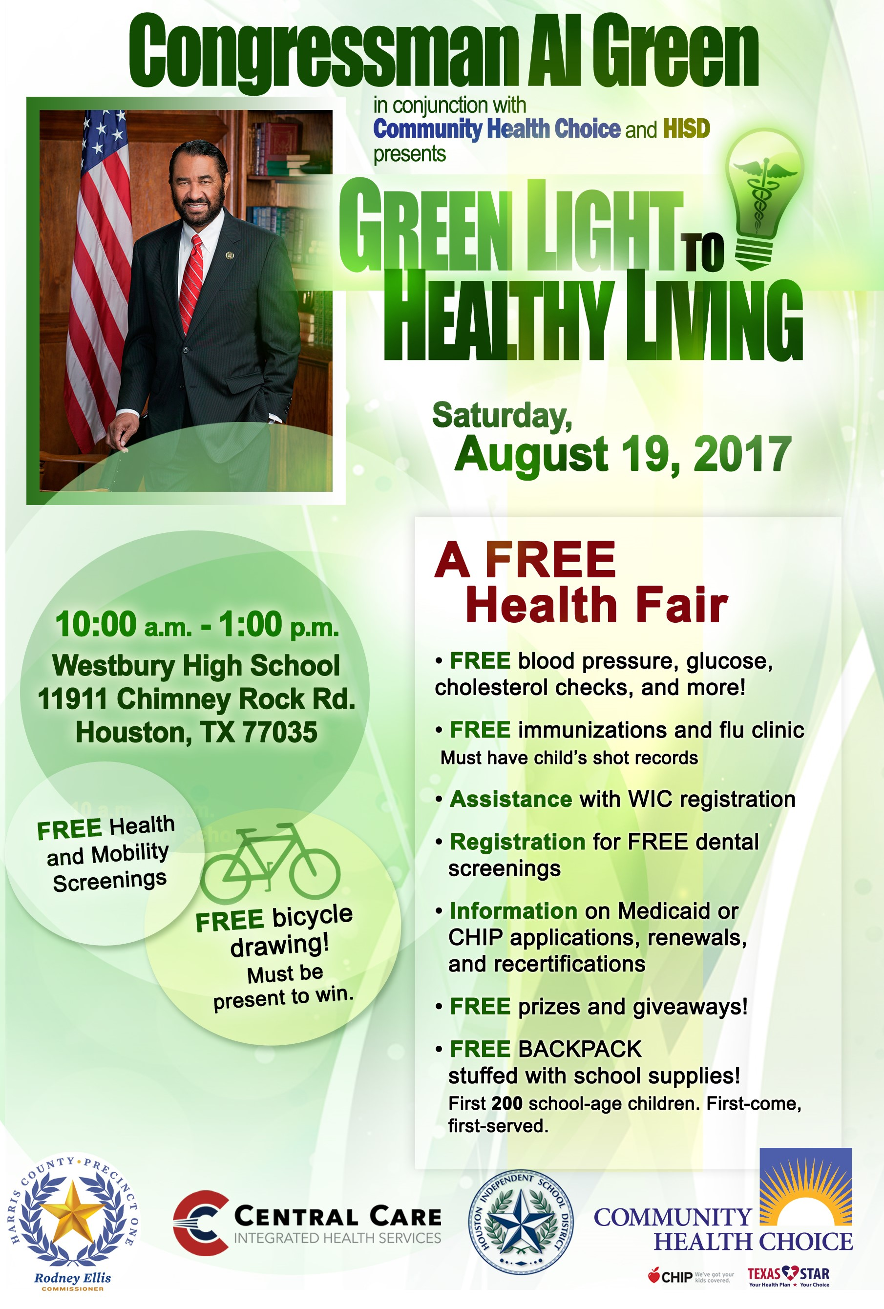 2017 Congressman Al Green Free Health Fair