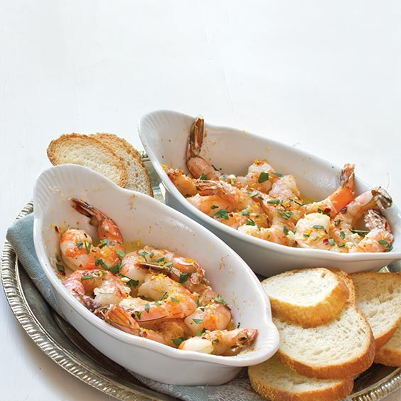 Baked Shrimp with Meyer Lemon Gremolata