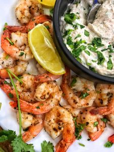 Lemon Oregano Grilled Shrimp