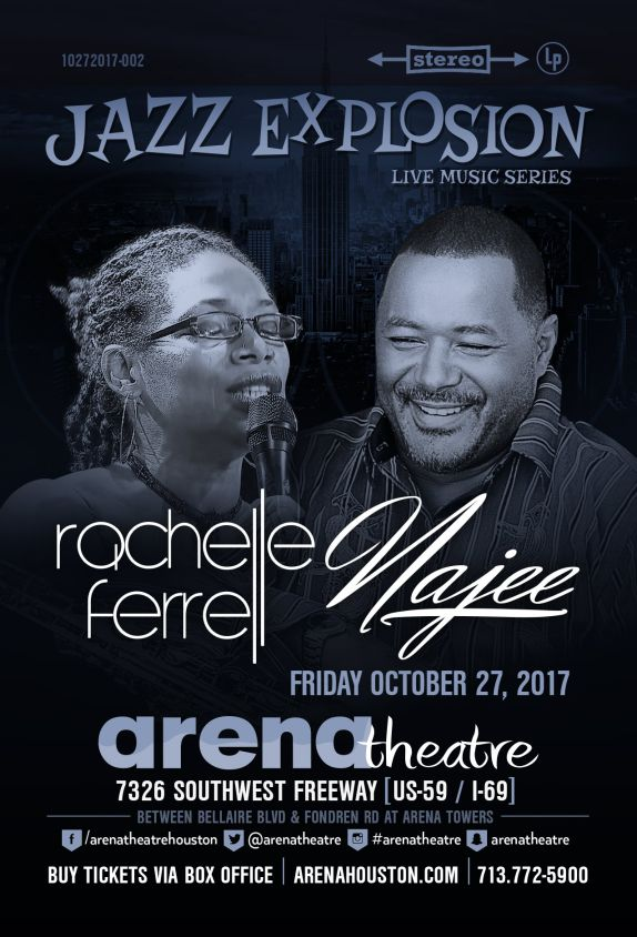 2017 Rachelle Ferrell & Najee at Arena Theatre