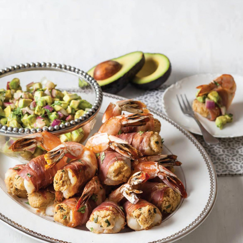 Prosciutto ,Shrimp,Prosciutto-Wrapped Stuffed Shrimp