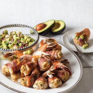 Prosciutto ,Shrimp,Prosciutto-Wrapped Stuffed Shrimp