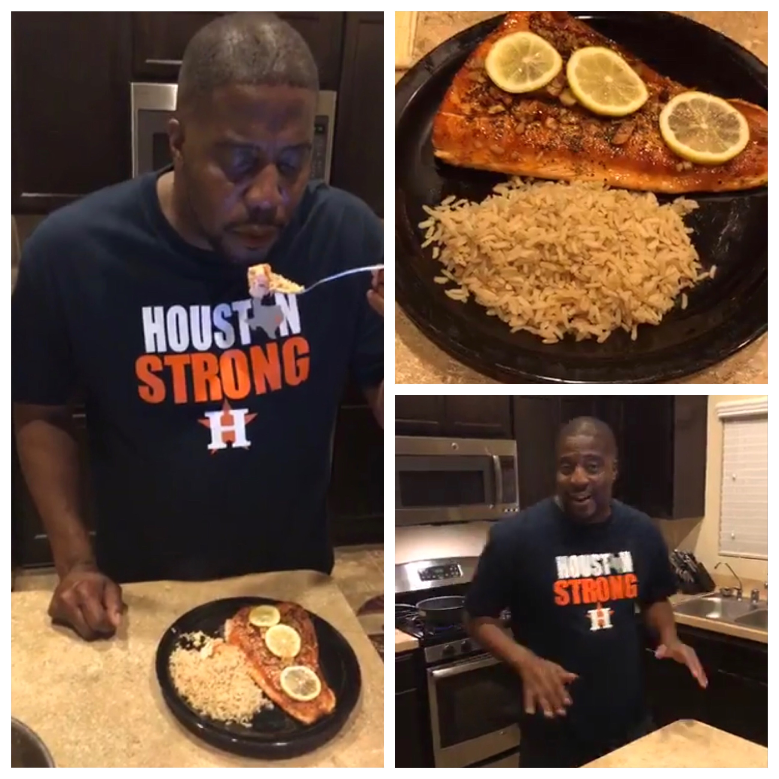 Quick Meal Monday with The Bassman Live (Honey Glaze Salmon)