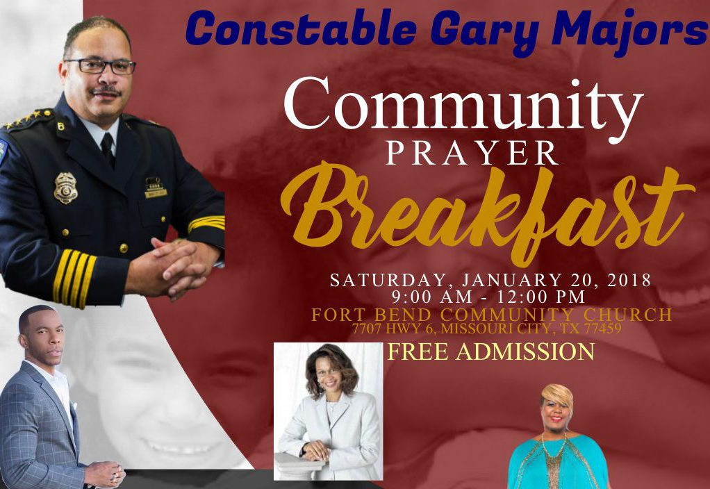 2018 Constable Gary Majors Prayer Breakfast