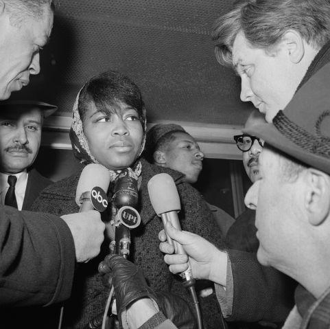 Betty Shabazz Speeking To Press