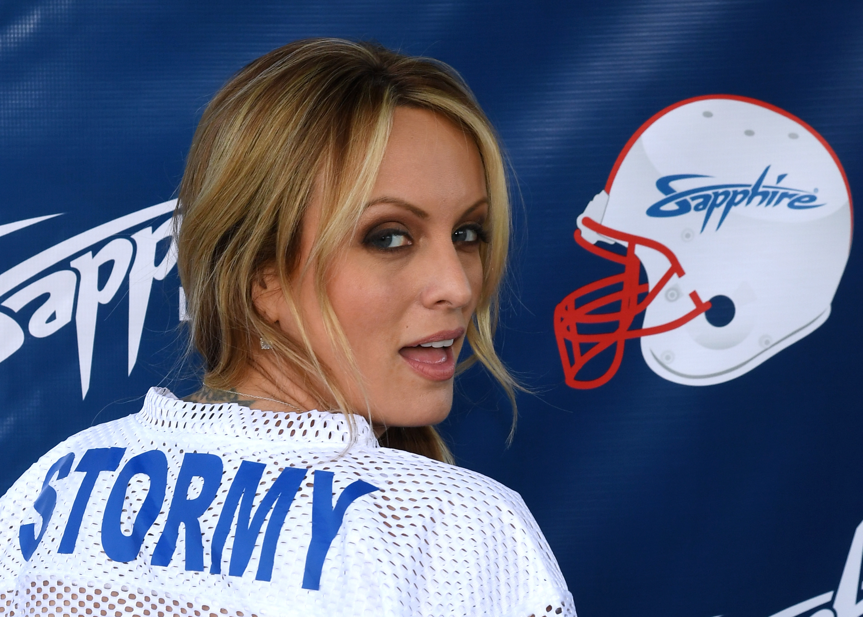 Stormy Daniels Hosts Super Bowl Party At Sapphire Las Vegas Gentlemen's Club