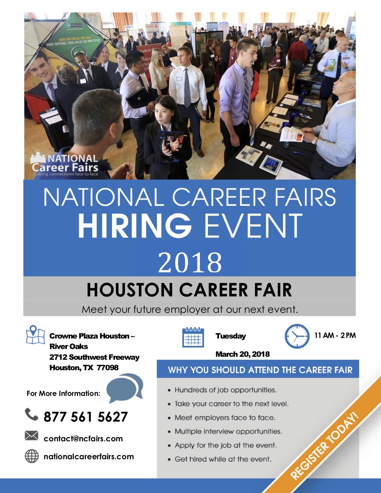 National Career Fairs Houston Hiring Event