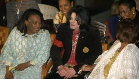 Pop Star Michael Jackson attends an event at the Ethiopian...