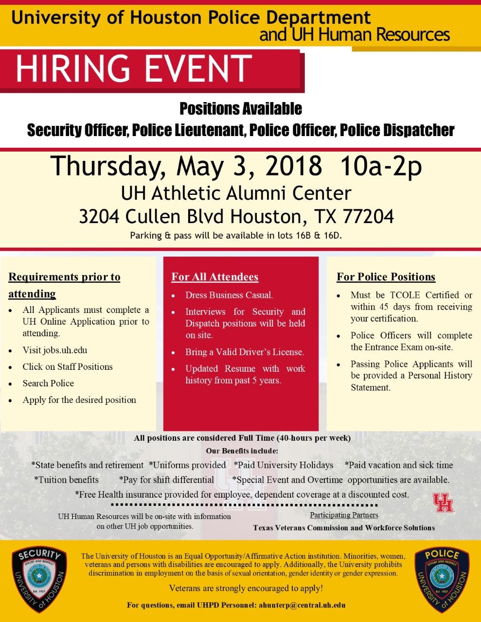 University of Houston Hiring Event