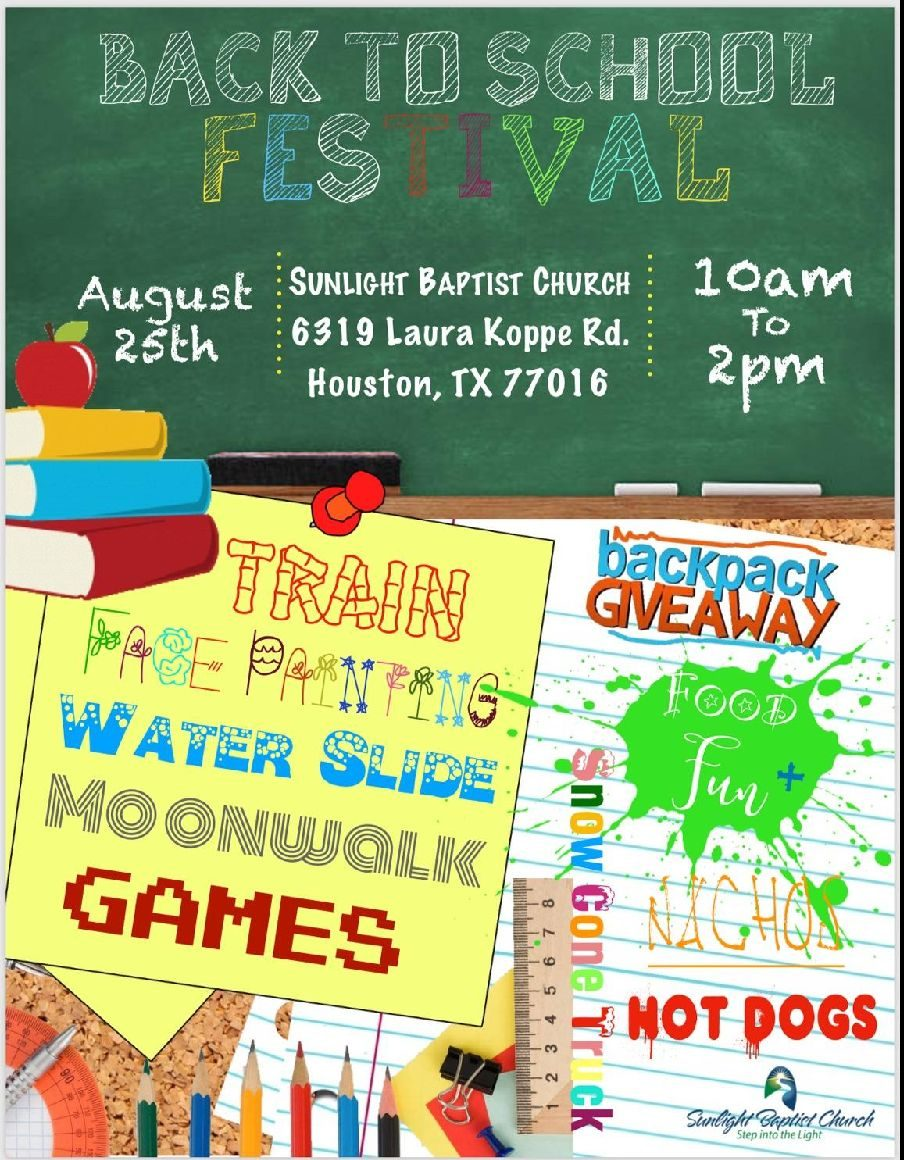 2018 Sunlight Baptist Church Back To School Festival