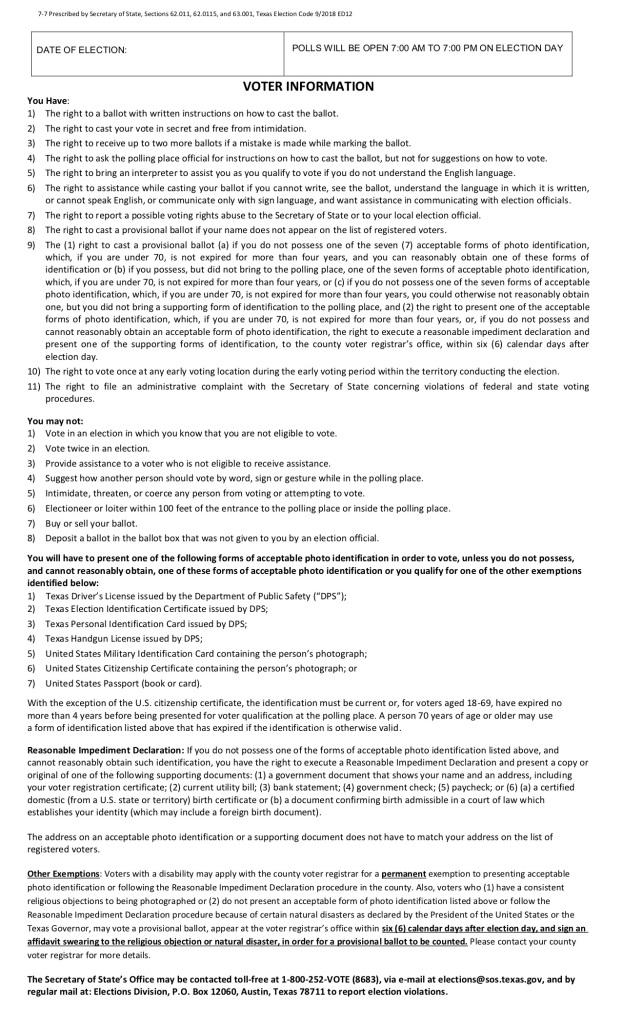 Vote Houston 2018: Candidate Guide, ID Info, Sample Ballot & More | Majic 102.1