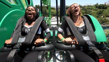 The Green Lantern: First Flight Ride Opening Media Day At Six Flags Magic Mountain