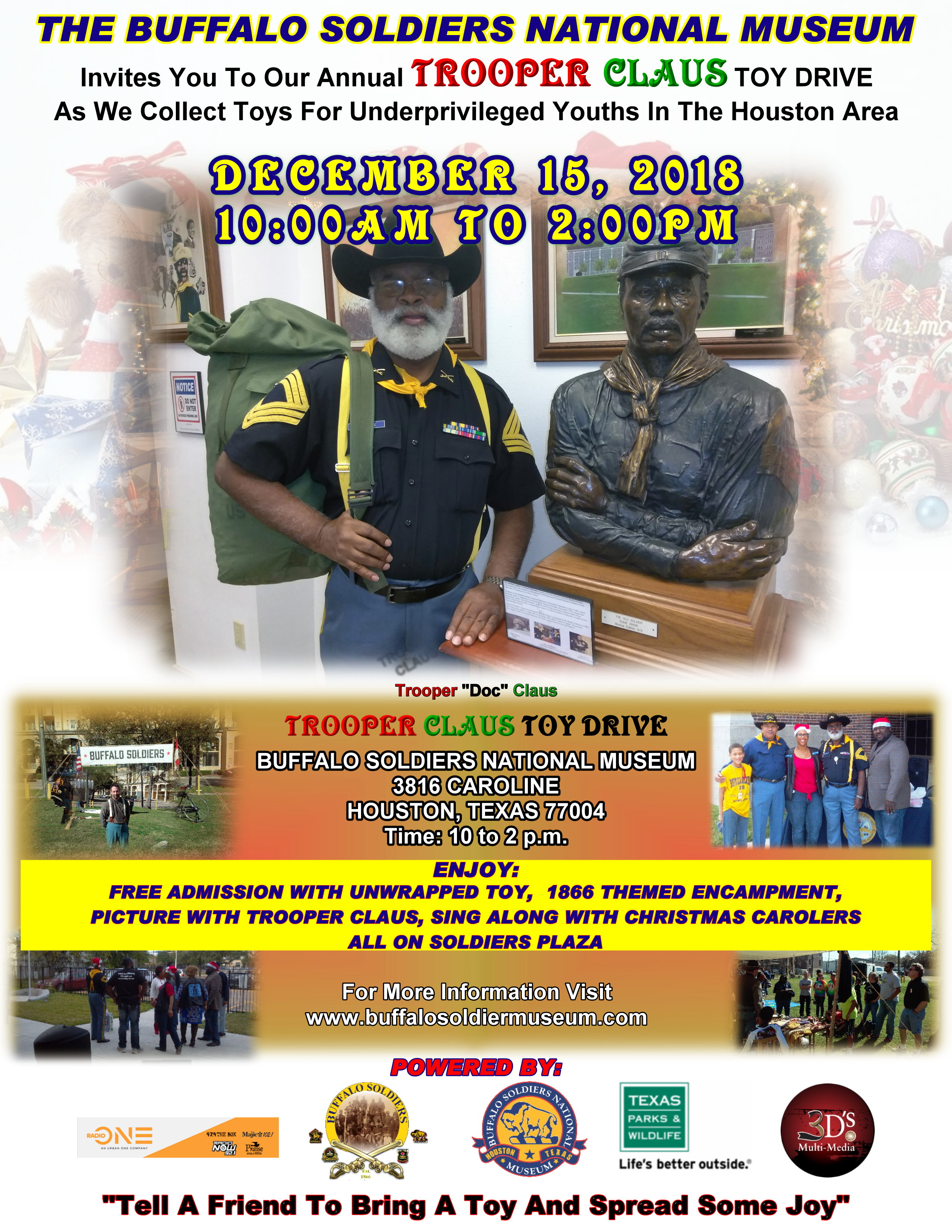 Buffalo Soldiers National Museum Trooper Claus Toy Drive