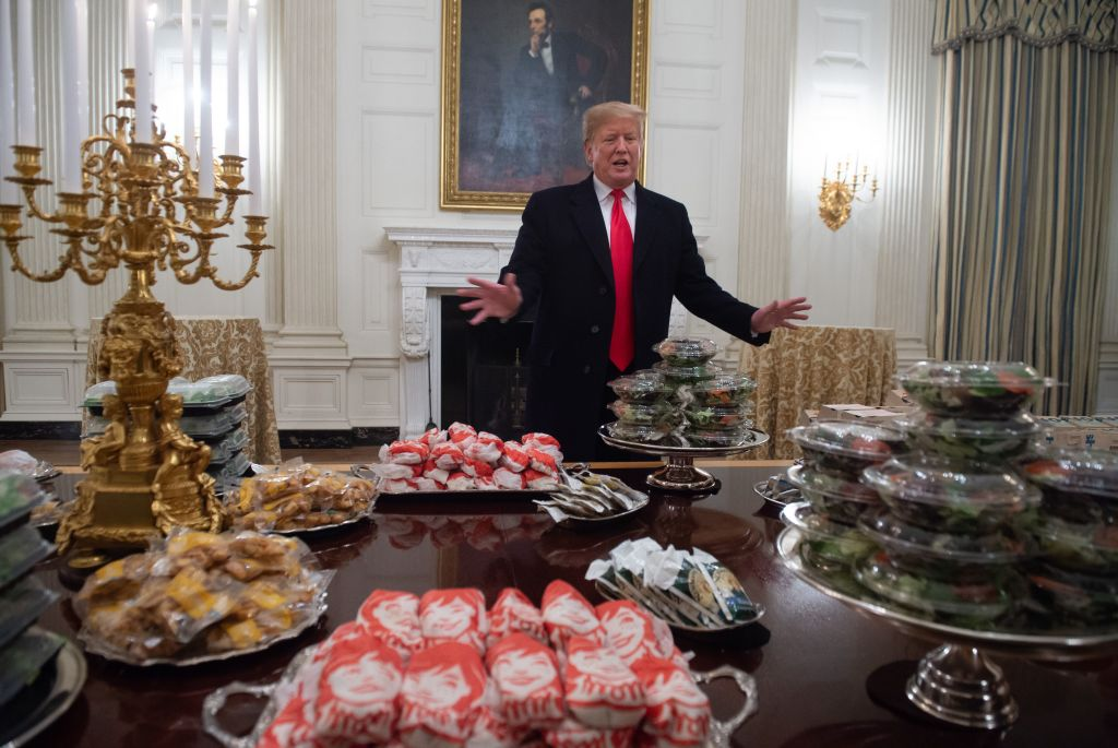 Filet-O-Struggle Plate: Trump Caters Dinner For National Champ Clemson Tigers With Fast Food