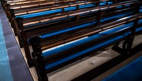 Benches in St Lawrence Church with Sunlight