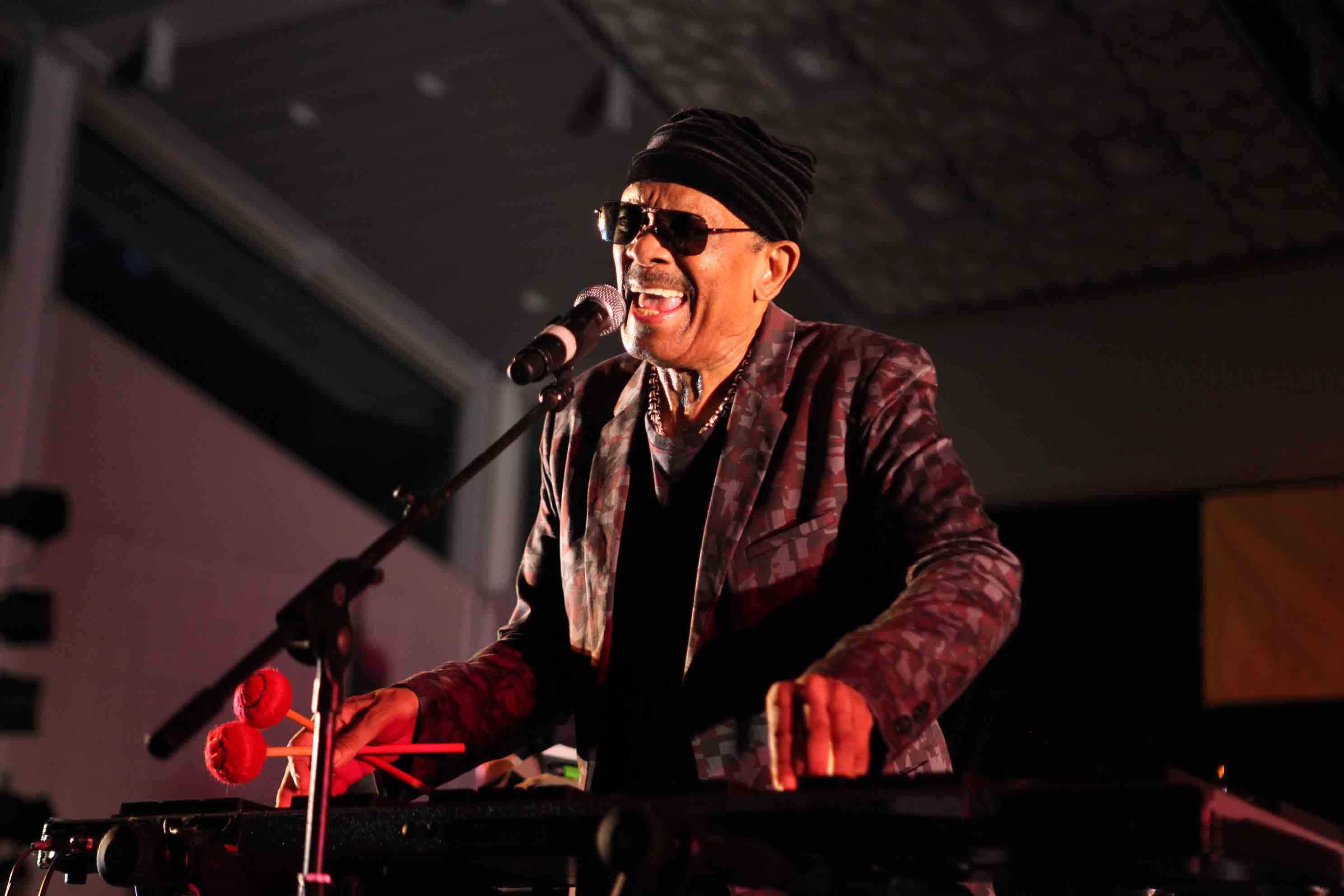 Roy Ayers performing live at Marcus Garvey Park