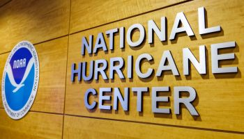 Miami, National Hurricane Center Sign and logo