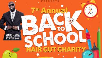 Kut N Zone Barbershop 7th Annual Back To School Haircut Charity