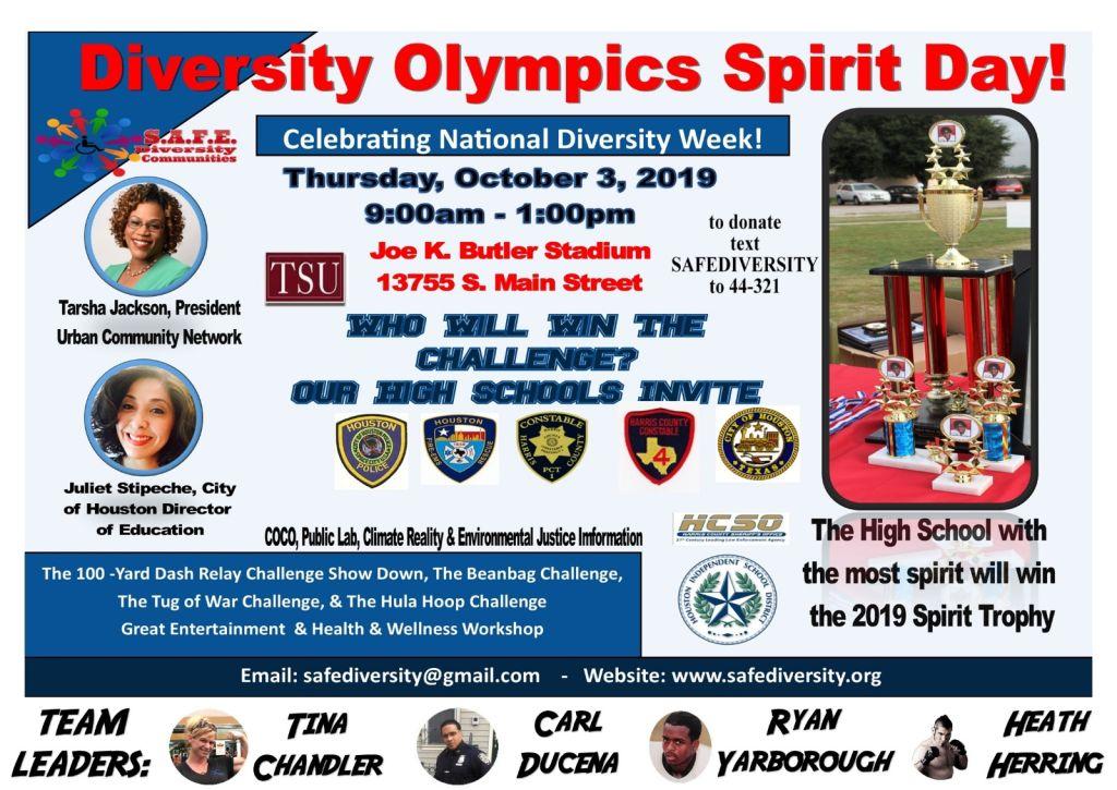 Diversity Olympics Spirit Day