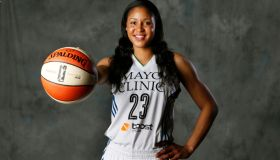 Minnesota Lynx star forward Maya Moore on media day for the Lynx at Target Center May 12, 2014 in Minneapolis , MN. ] Jerry Holt Jerry.holt@startribune.com