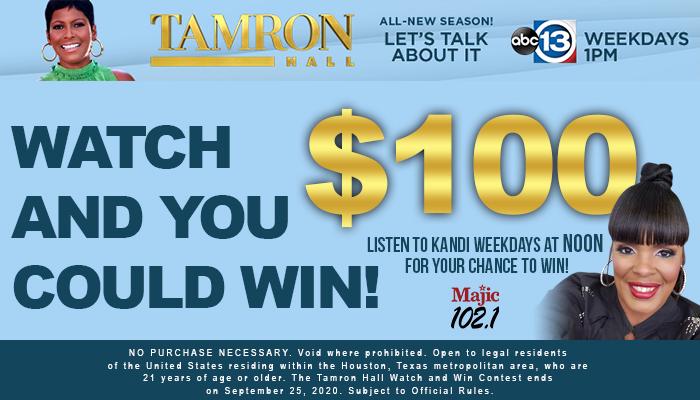 Tamron Hall Watch & Win
